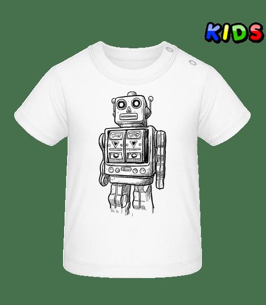 Baby Robot - Baby T-Shirt - White - Vorn