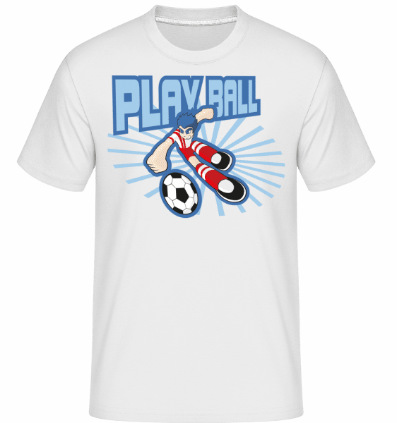 Play Ball -  Shirtinator Men's T-Shirt - White - Front