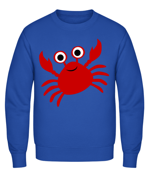 Crab - Classic Set-In Sweatshirt - Royal Blue - Vorn