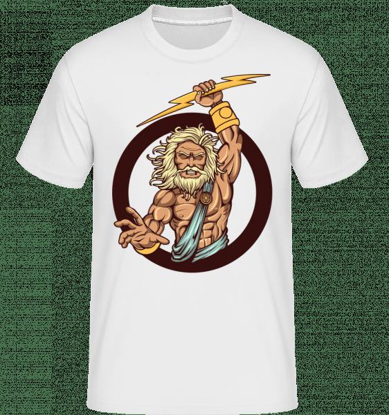 Zeus -  Shirtinator Men's T-Shirt - White - Vorn