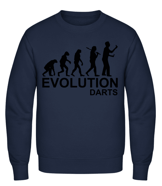 Darts Of Evolution - Classic Set-In Sweatshirt - Navy - Vorn