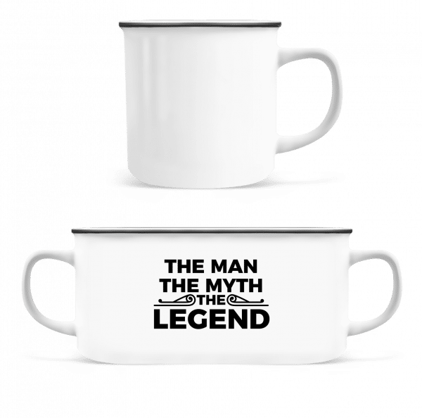 The Man The Myth The Legend - Enamel-cup - White - Vorn