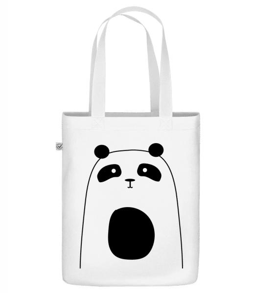 "Cute Panda - Organic ""Earth Positive"" tote bag - White - Vorn"