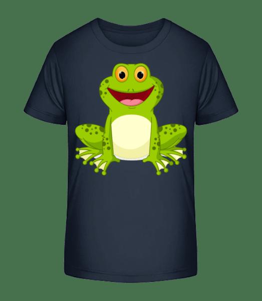 Žába - Detské Premium Bio tričko - Namořnická modrá - Napřed