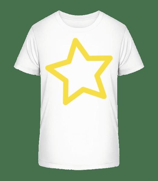 Star - Kid's Premium Bio T-Shirt - White - Vorn