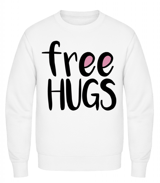 Free Hugs - Classic Set-In Sweatshirt - White - Vorn