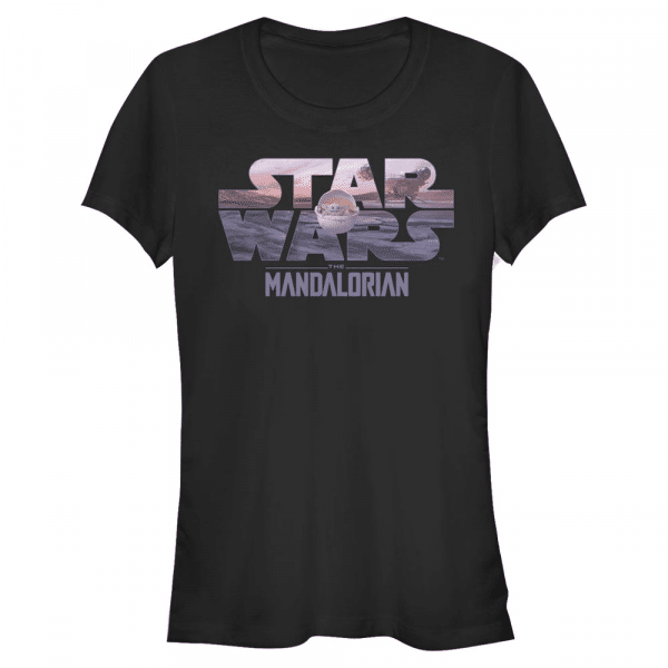 Child Logo Fill The Child - Star Wars Mandalorian - Women's T-Shirt - Black - Front