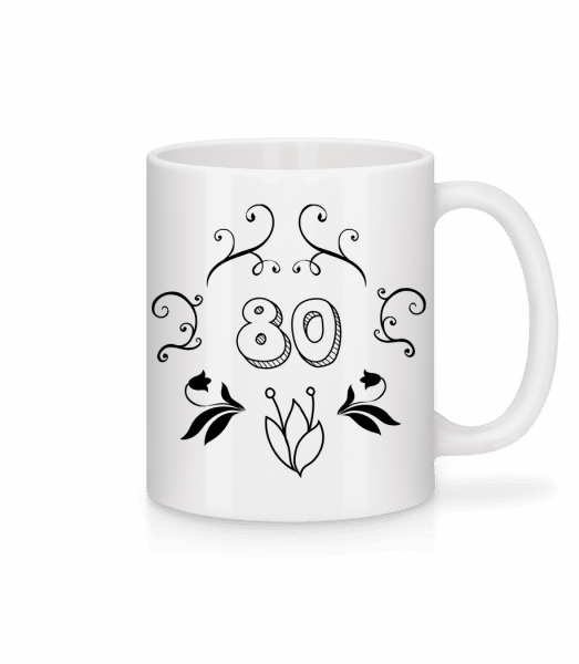 80s Birthday - Mug - White - Vorn