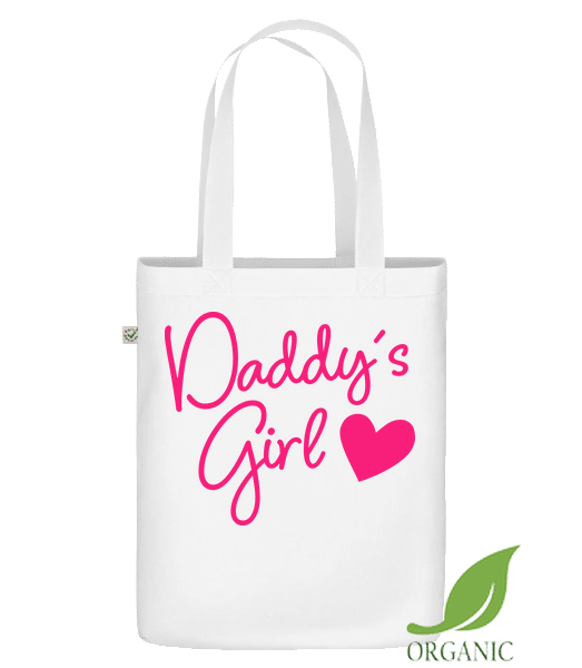 """Daddy's Girl - Organic """"Earth Positive"""" tote bag - White - Vorn"""