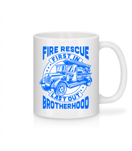 Fire Rescue First In Last - Mug - White - Front