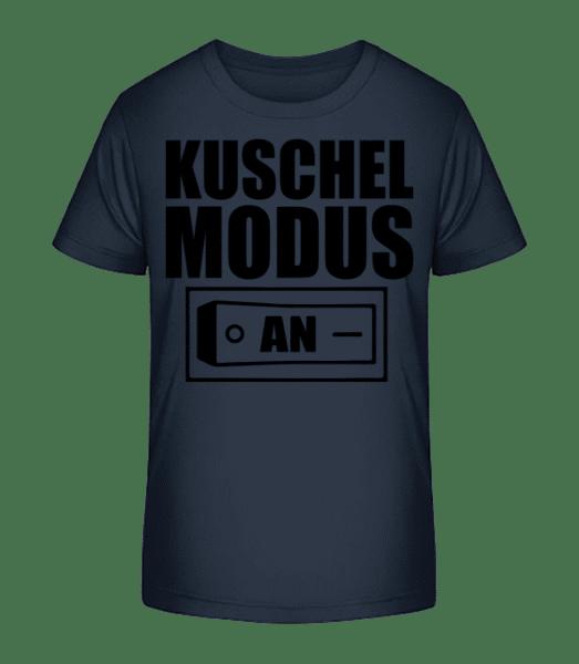 Kuschel Modus An - Kinder Premium Bio T-Shirt - Marine - Vorn
