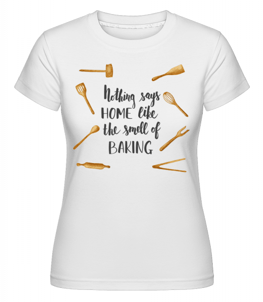 The Smell Of Baking -  Shirtinator Women's T-Shirt - White - Vorn