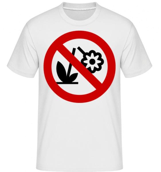 Do Not Destroy Flowers -  Shirtinator Men's T-Shirt - White - Front
