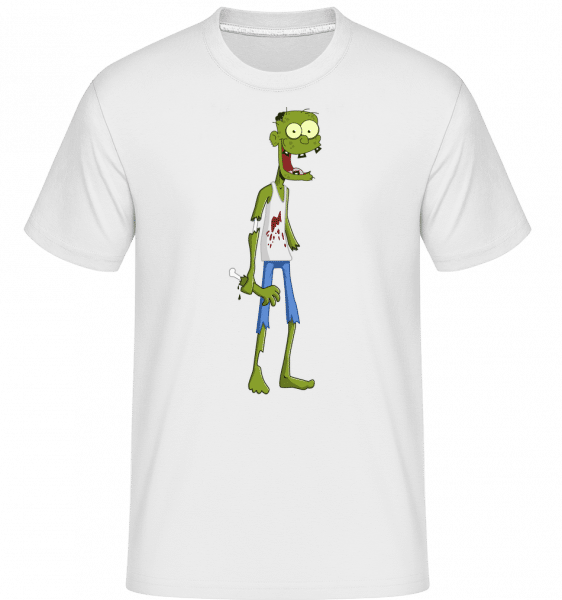 One Handed Zombie -  Shirtinator Men's T-Shirt - White - Vorn