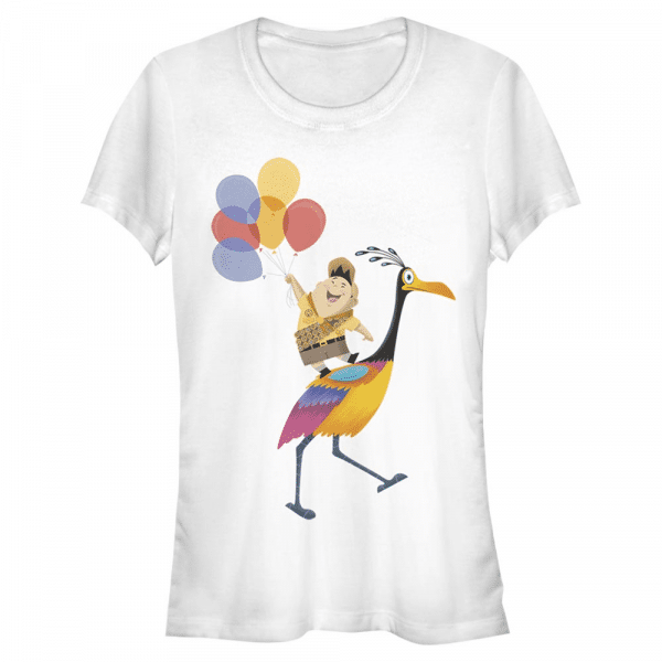 Kevin's Feathers Russell & Kevin - Pixar Up - Women's T-Shirt - White - Front