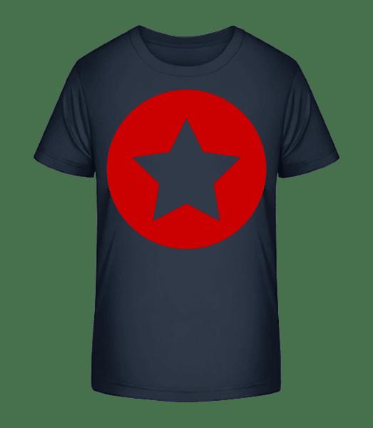 Star Icon Red - Kid's Premium Bio T-Shirt - Navy - Front