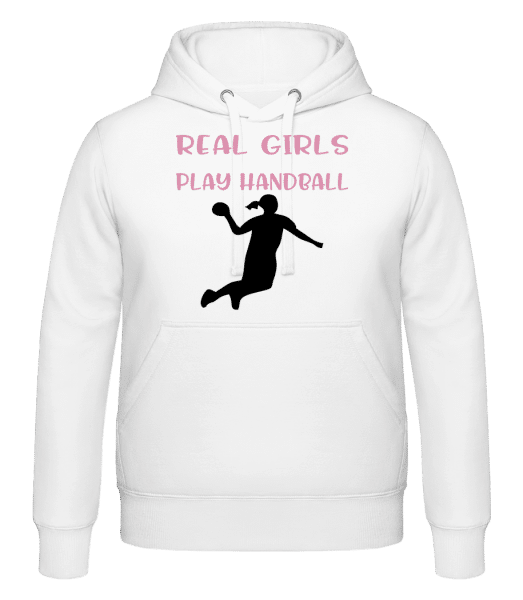Real Girls Play Handball - Hoodie - White - Vorn