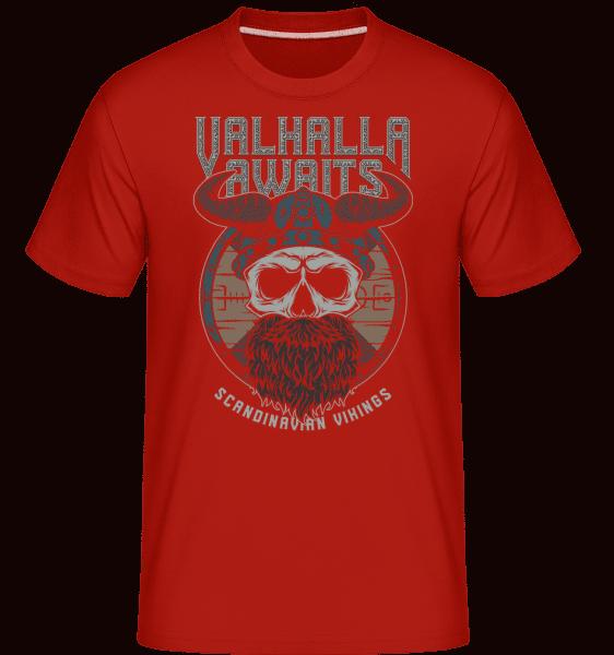 Scandinavian Vikings -  Shirtinator Men's T-Shirt - Red - Vorn