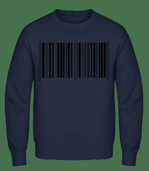 Barcode - Männer Pullover - Marine - Vorn