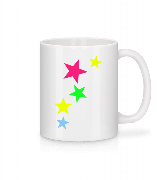 Colorful Stars - Mug - White - Vorn