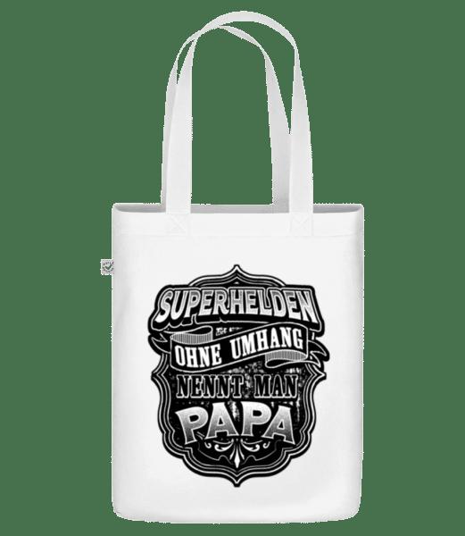 Superhelden Papa - Bio Tasche - Weiß - Vorn