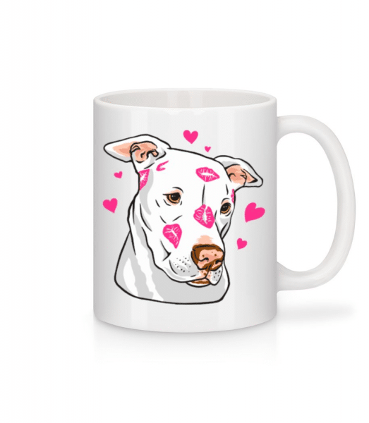 Cute Pitbull - Mug - White - Front