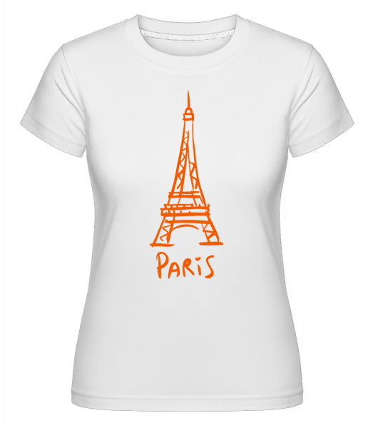Paris Sign -  Shirtinator Women's T-Shirt - White - Vorn