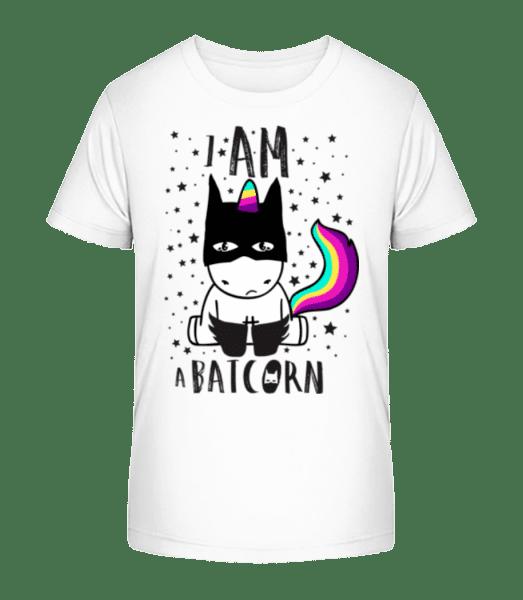 I Am A Batcorn - Kid's Premium Bio T-Shirt - White - Front