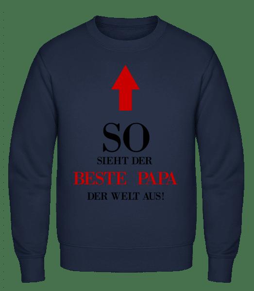 Der Beste Papa Der Welt - Männer Pullover - Marine - Vorn