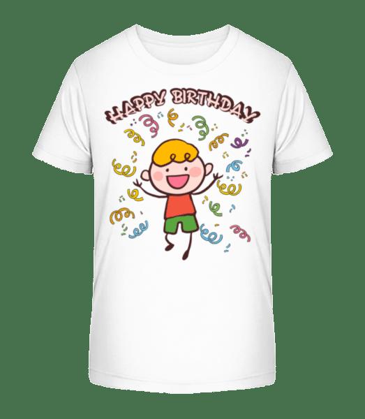 Happy Birthday Dance - Kid's Premium Bio T-Shirt - White - Vorn