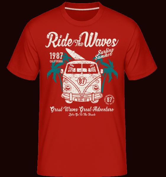 Ride The Waves -  Shirtinator Men's T-Shirt - Red - Vorn