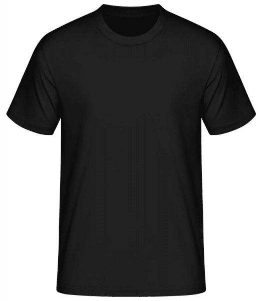 Men's Basic T-Shirt - Black - Front