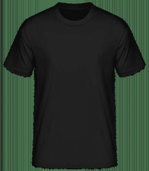 Pánské basic tričko - Černá - Napřed