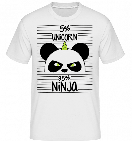 Unicorn Ninja -  Shirtinator Men's T-Shirt - White - Vorn