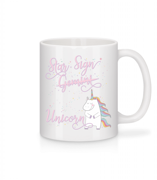 Star Sign Unicorn Gemini - Tasse - Weiß - Vorn