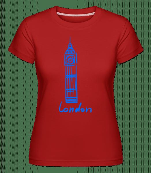London Tower Sign -  Shirtinator Women's T-Shirt - Red - Vorn