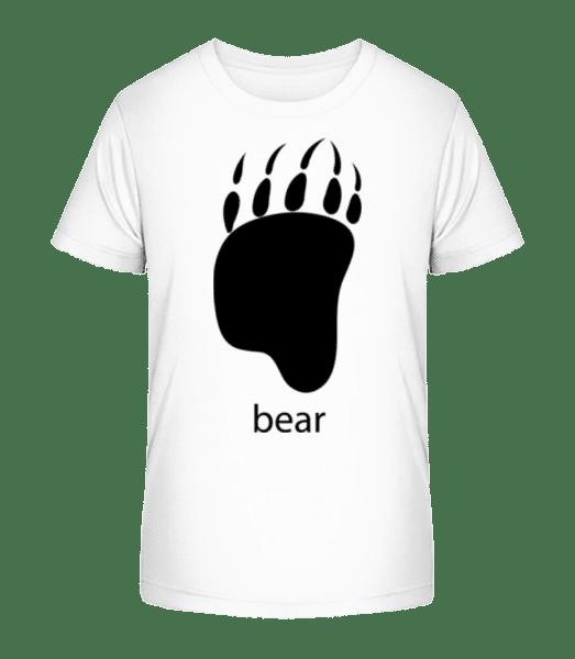 Bear Paw - Kid's Premium Bio T-Shirt - White - Vorn