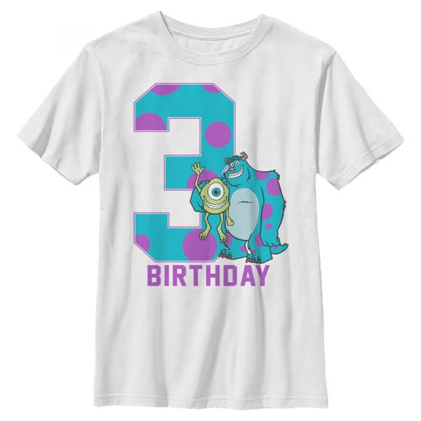 Birthday Monster Group Shot - Pixar Monster's Inc. - Kids T-Shirt - White - Front