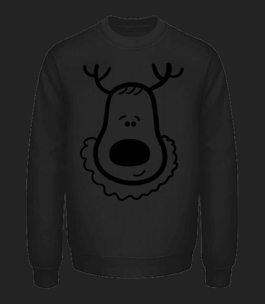 Christmas Reindeer - Unisex Sweatshirt - Black - Vorn