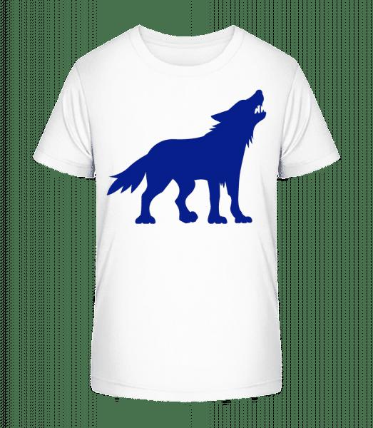 Zähne Fletschender Wolf - Kinder Premium Bio T-Shirt - Weiß - Vorn