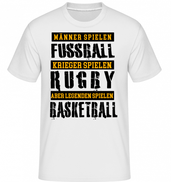Legenden Spielen Basketball - Shirtinator Männer T-Shirt - Weiß - Vorn