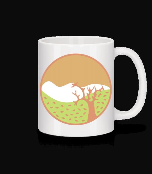 Herbstlandschaft - Tasse - Weiß - Vorn