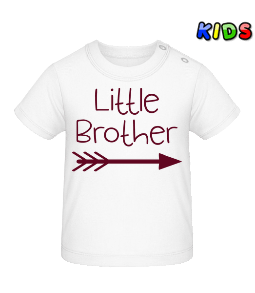 Little Brother - Baby T-Shirt - White - Vorn