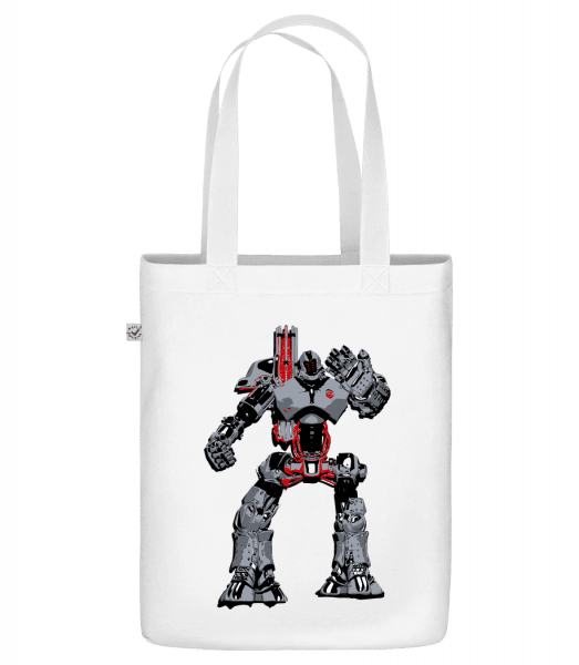 "Fighting Robots - Organic ""Earth Positive"" tote bag - White - Vorn"