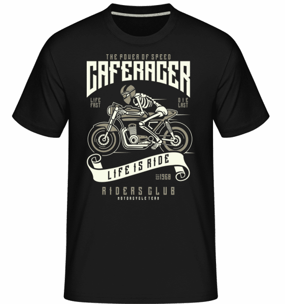 Speed Of Caferacer -  Shirtinator Men's T-Shirt - Black - Vorn