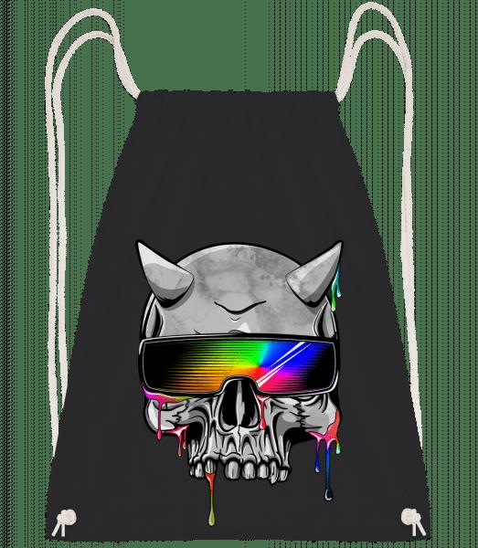 Hell Hipster - Drawstring Backpack - Black - Vorn