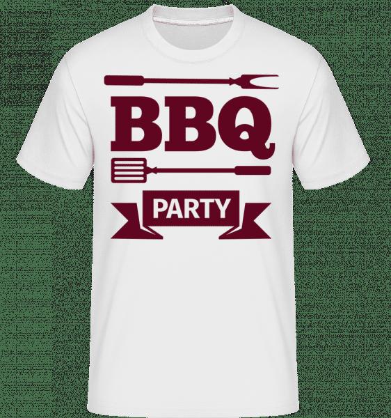 BBQ Party Icon -  Shirtinator Men's T-Shirt - White - Vorn