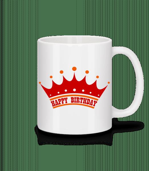 Happy Birthday Crown - Mug - White - Vorn