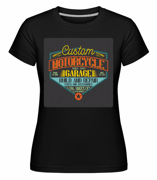 Custom Motorcycle -  Shirtinator Women's T-Shirt - Black - Vorn