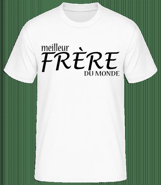 Meilleur Frère Du Monde - T-shirt standard Homme - Blanc - Vorn